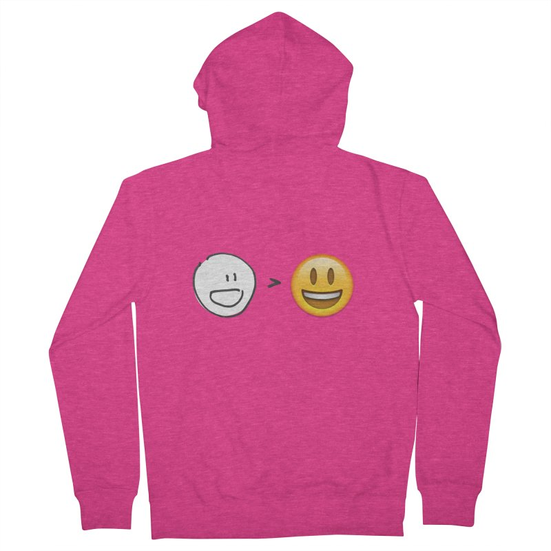 simple drawing vs graphics Women's French Terry Zip-Up Hoody by chalkmotion's Shop