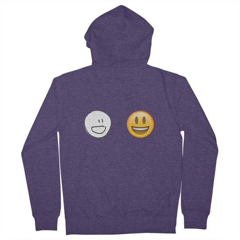 simple drawing vs graphics Men's French Terry Zip-Up Hoody by chalkmotion's Shop