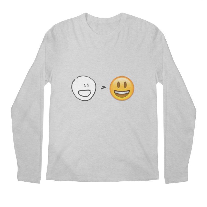simple drawing vs graphics Men's Regular Longsleeve T-Shirt by chalkmotion's Shop