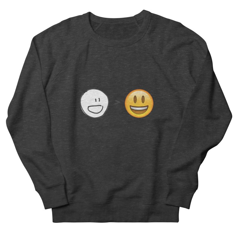 simple drawing vs graphics Men's Sweatshirt by chalkmotion's Shop
