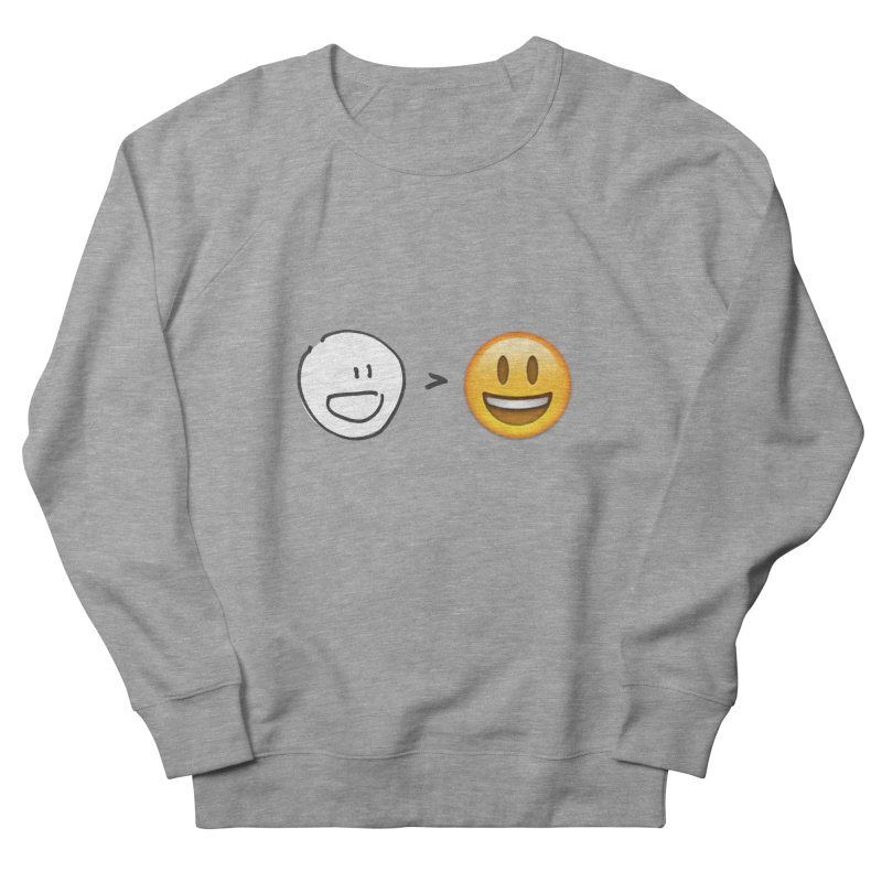 simple drawing vs graphics Men's French Terry Sweatshirt by chalkmotion's Shop