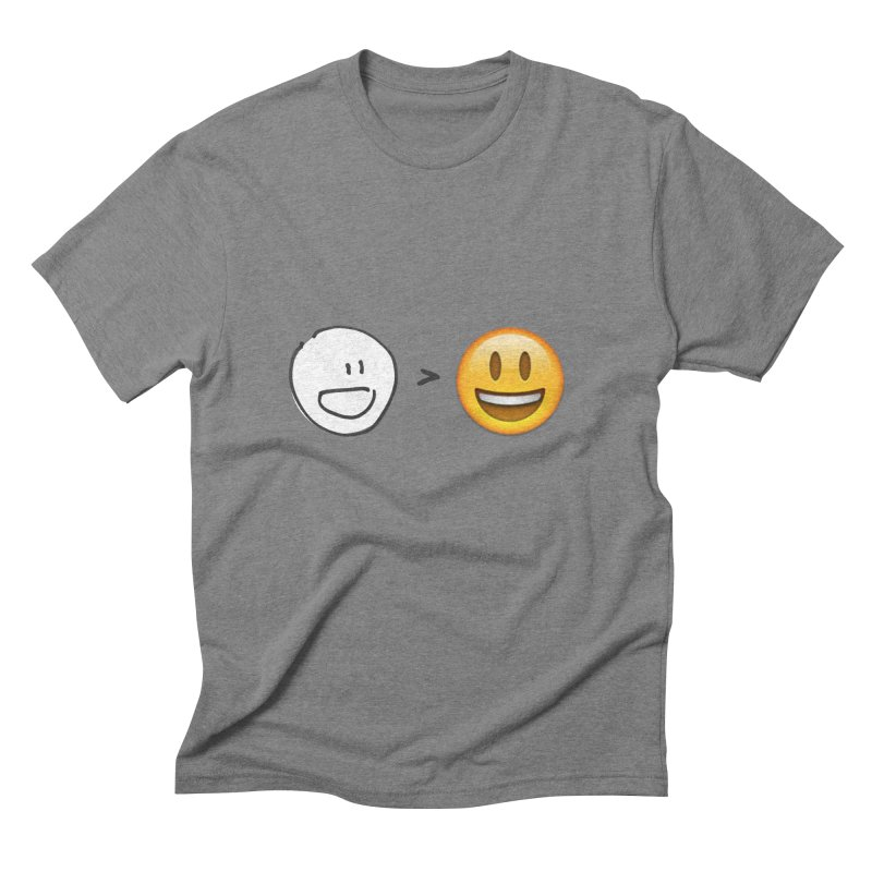 simple drawing vs graphics Men's Triblend T-Shirt by chalkmotion's Shop