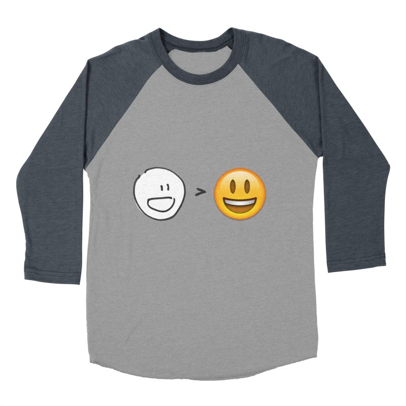 simple drawing vs graphics Men's Baseball Triblend Longsleeve T-Shirt by chalkmotion's Shop