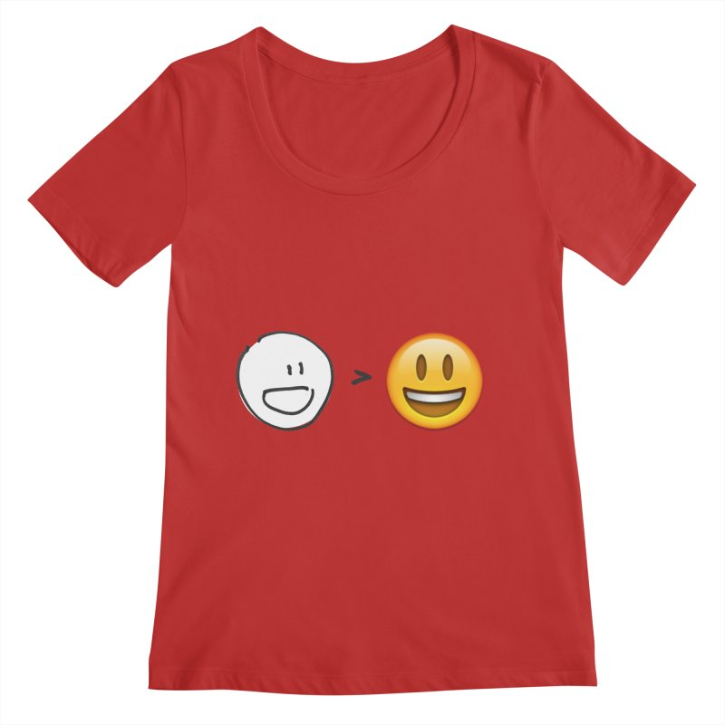simple drawing vs graphics Women's Scoop Neck by chalkmotion's Shop