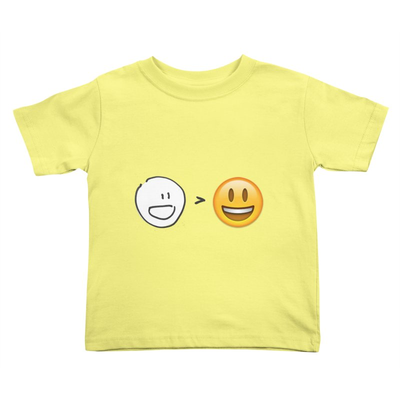 simple drawing vs graphics Kids Toddler T-Shirt by chalkmotion's Shop