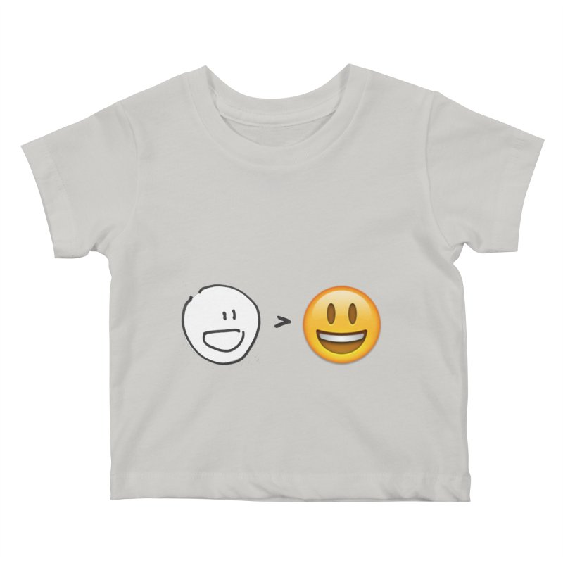 simple drawing vs graphics Kids Baby T-Shirt by chalkmotion's Shop