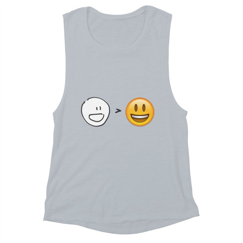simple drawing vs graphics Women's Muscle Tank by chalkmotion's Shop