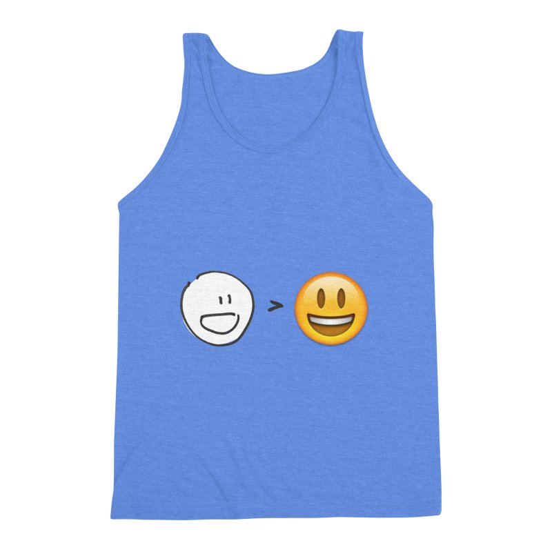 simple drawing vs graphics Men's Triblend Tank by chalkmotion's Shop