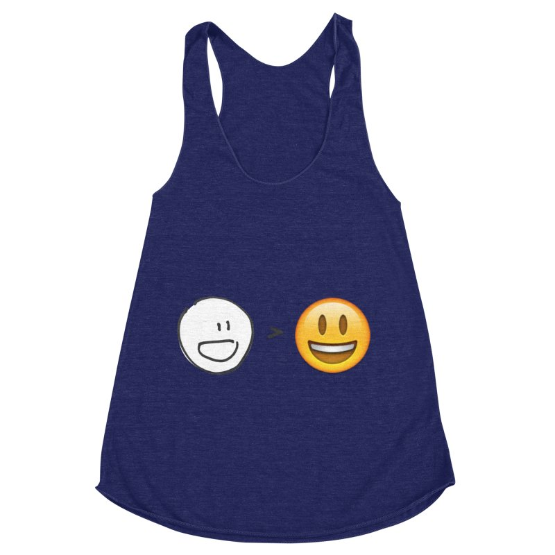 simple drawing vs graphics Women's Racerback Triblend Tank by chalkmotion's Shop
