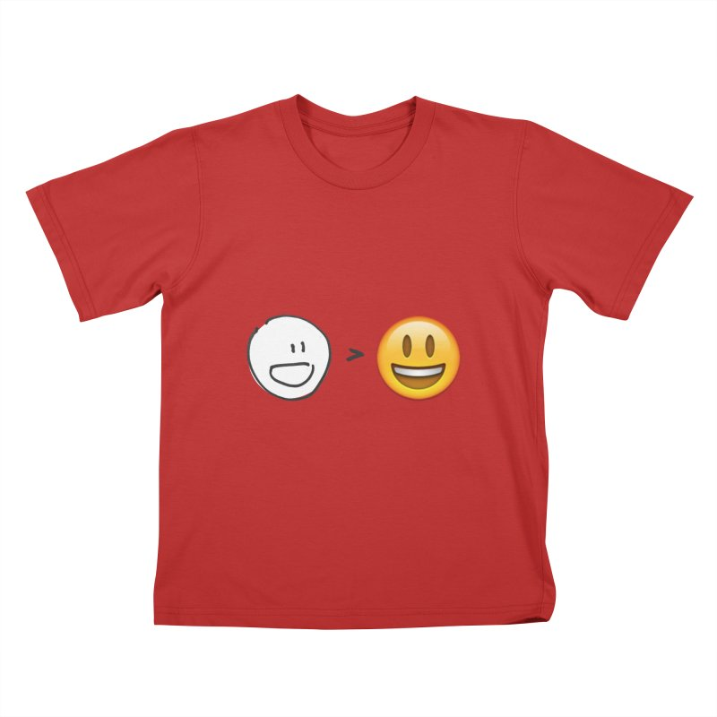 simple drawing vs graphics Kids T-Shirt by chalkmotion's Shop