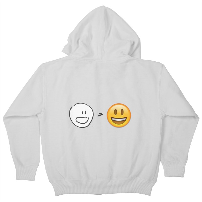 simple drawing vs graphics Kids Zip-Up Hoody by chalkmotion's Shop
