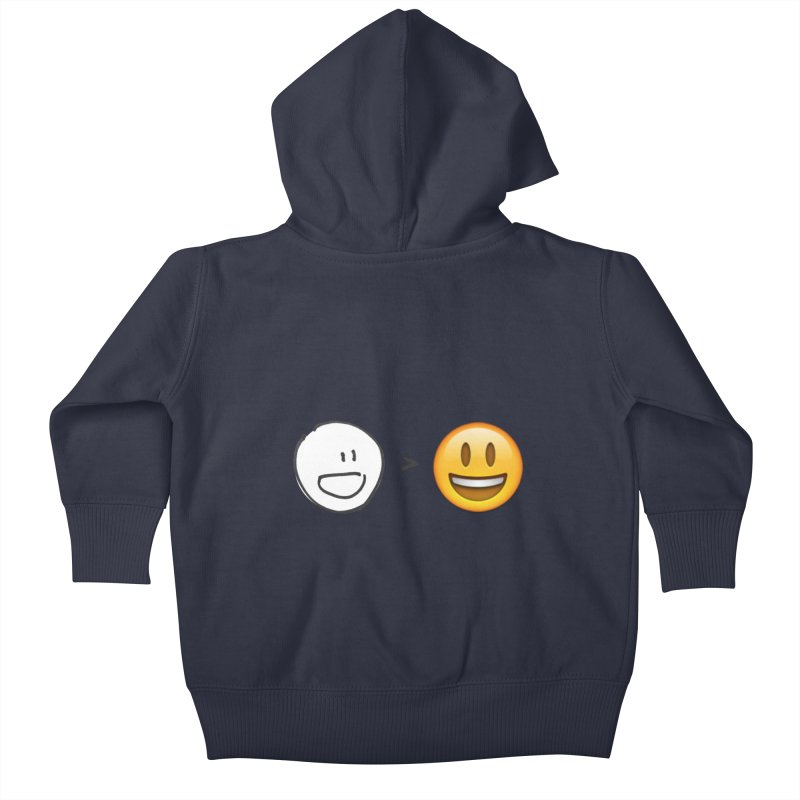 simple drawing vs graphics Kids Baby Zip-Up Hoody by chalkmotion's Shop