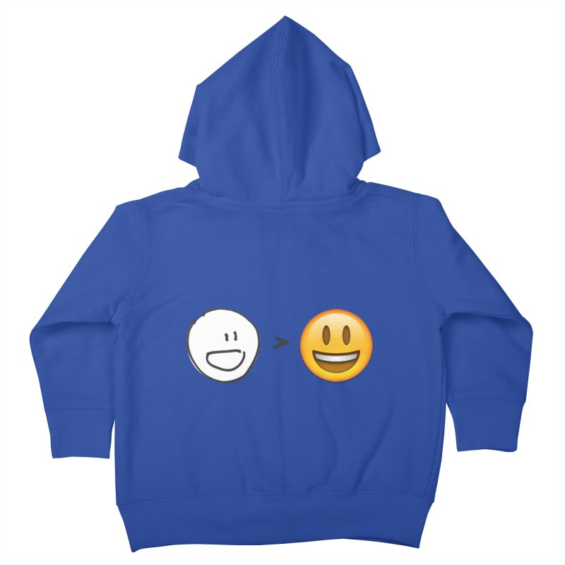 simple drawing vs graphics Kids Toddler Zip-Up Hoody by chalkmotion's Shop
