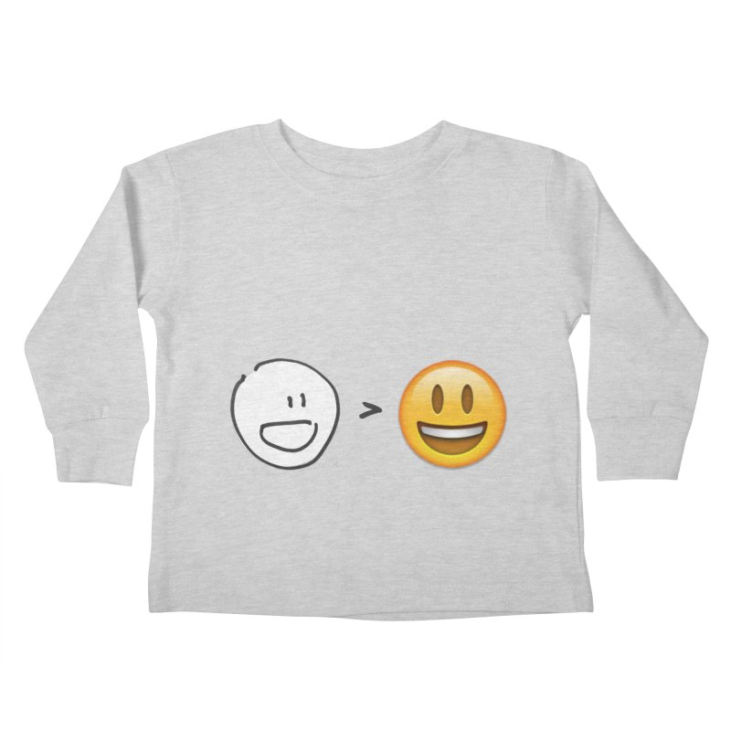 simple drawing vs graphics Kids Toddler Longsleeve T-Shirt by chalkmotion's Shop