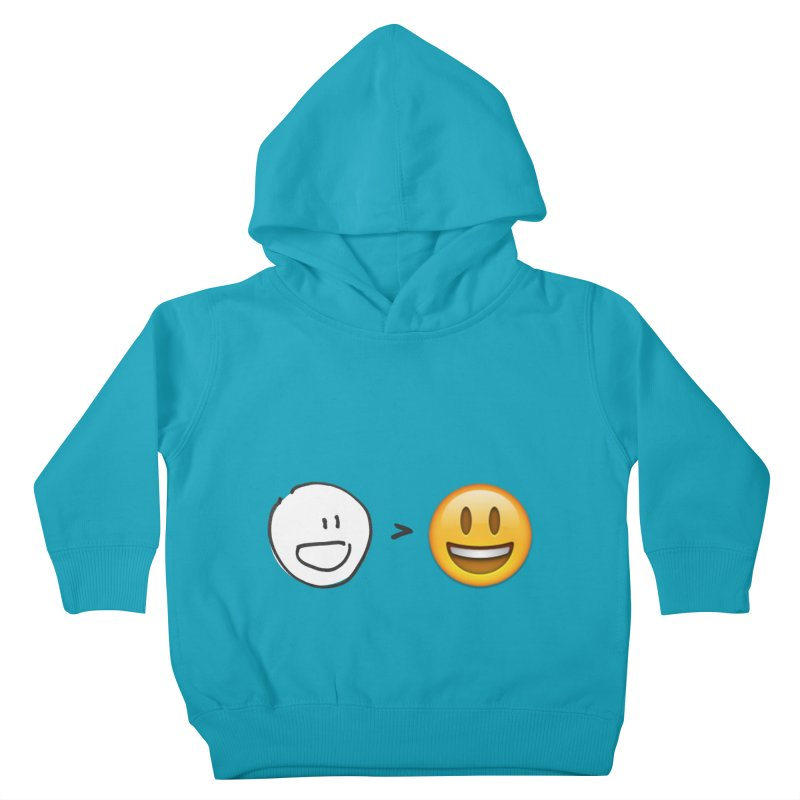 simple drawing vs graphics Kids Toddler Pullover Hoody by chalkmotion's Shop