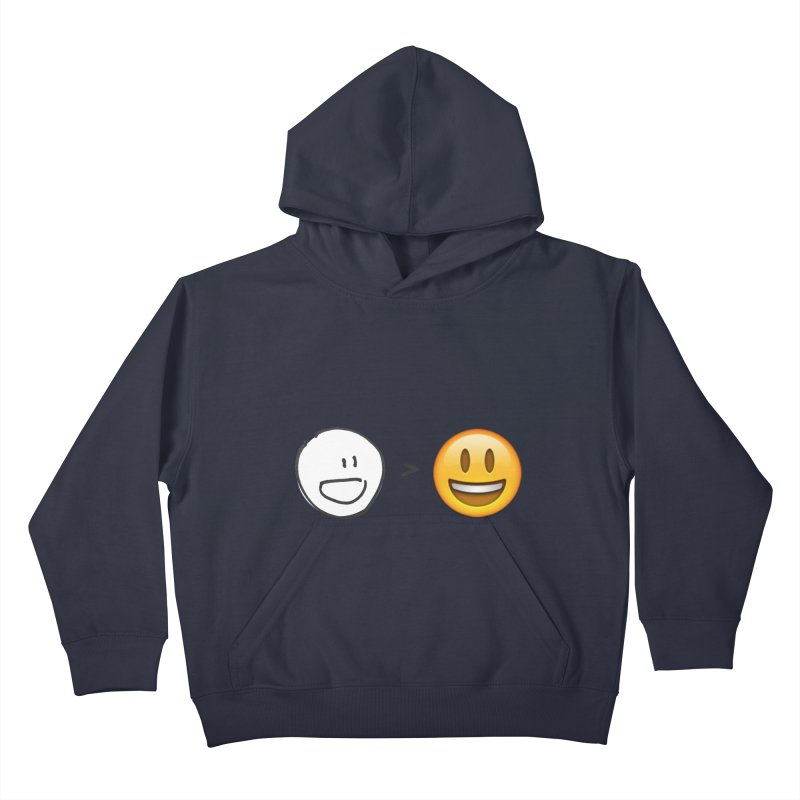 simple drawing vs graphics Kids Pullover Hoody by chalkmotion's Shop