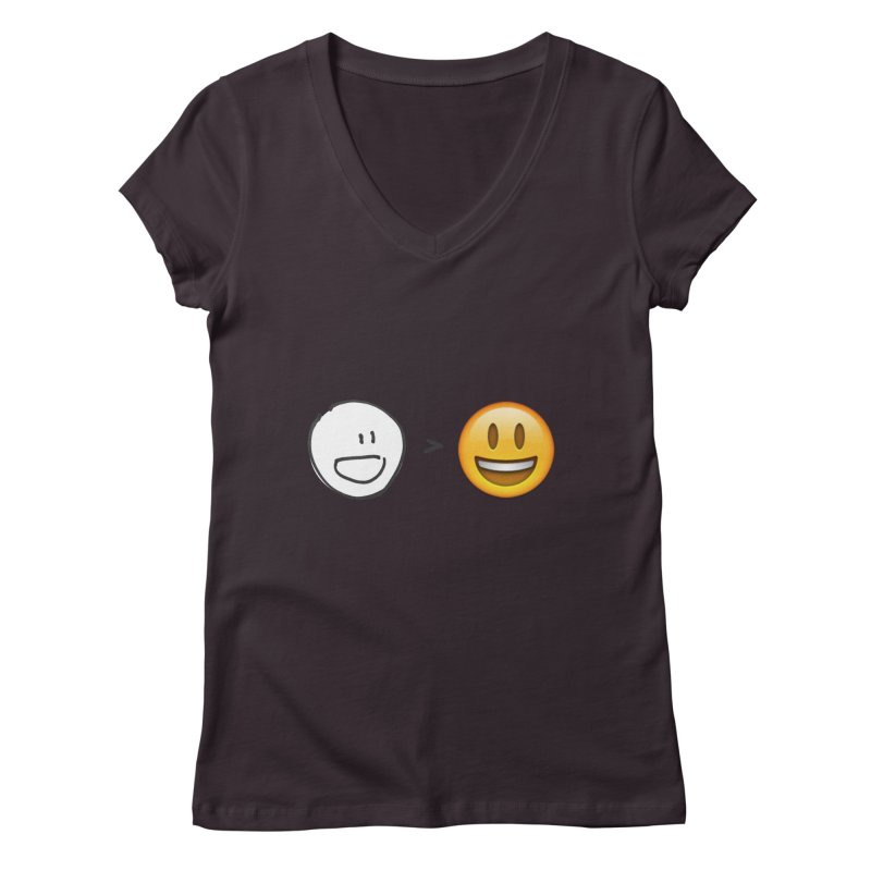 simple drawing vs graphics Women's V-Neck by chalkmotion's Shop