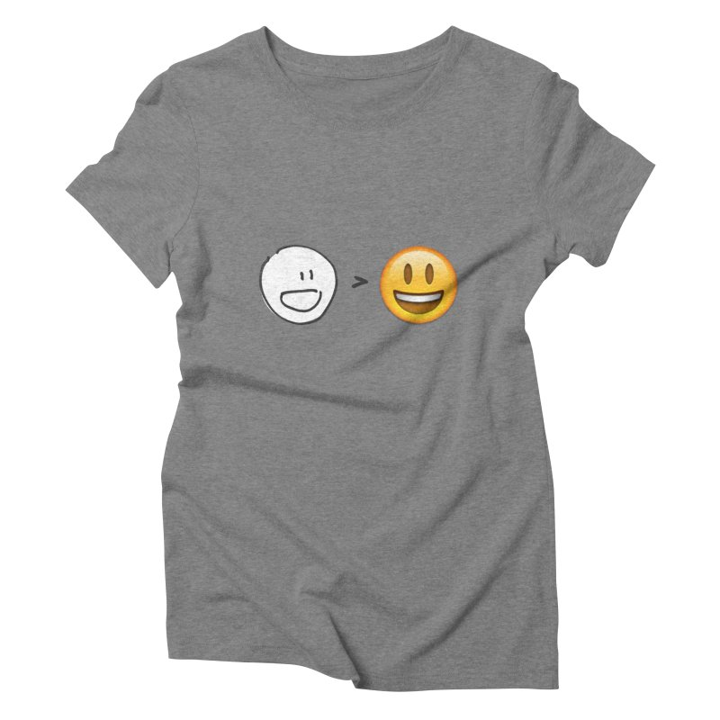 simple drawing vs graphics Women's T-Shirt by chalkmotion's Shop