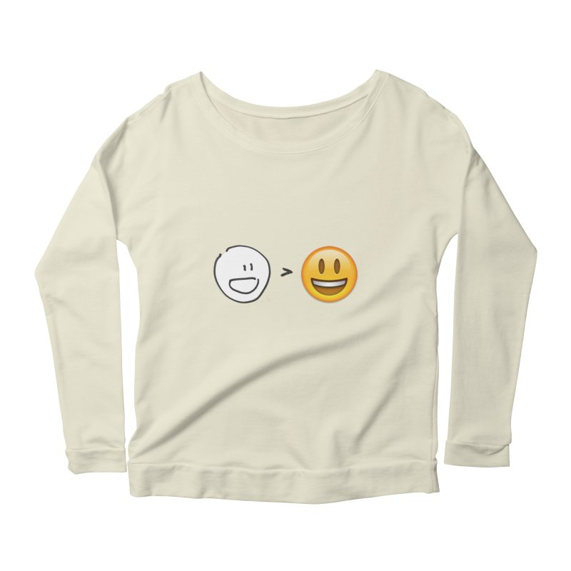 simple drawing vs graphics Women's Longsleeve Scoopneck  by chalkmotion's Shop