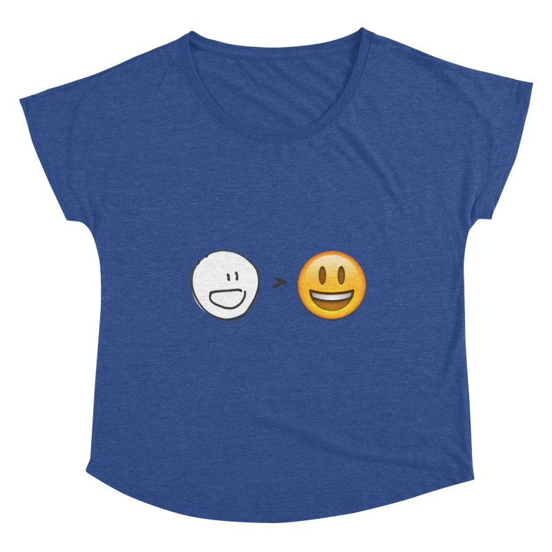 simple drawing vs graphics Women's Dolman Scoop Neck by chalkmotion's Shop