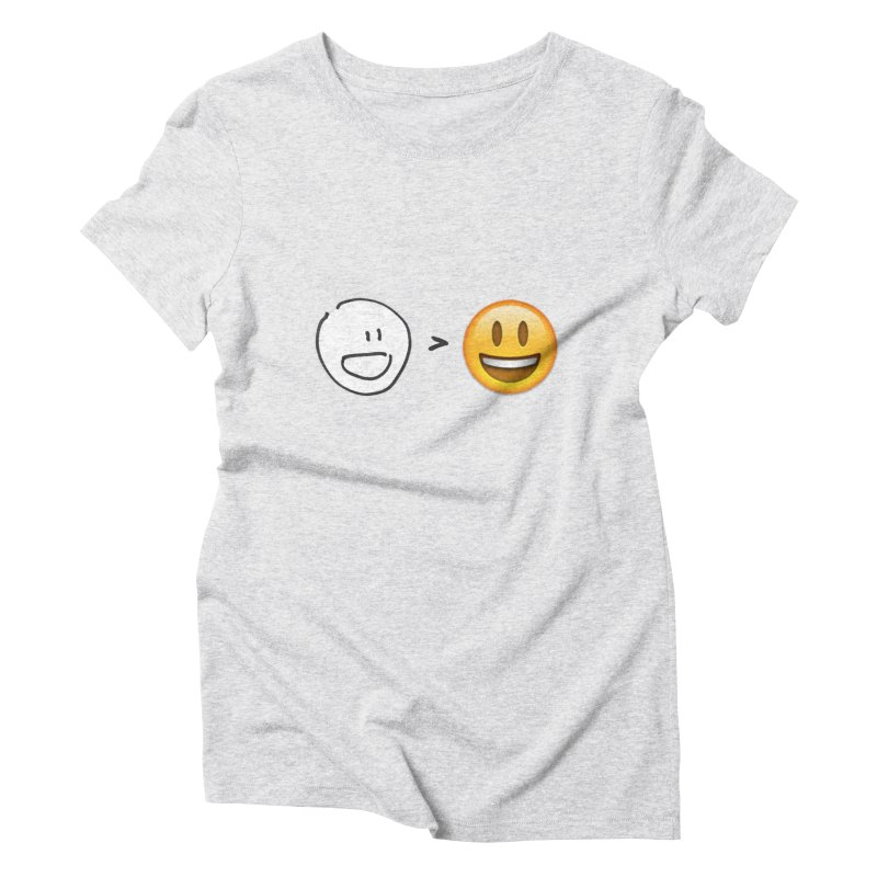 simple drawing vs graphics Women's Triblend T-Shirt by chalkmotion's Shop