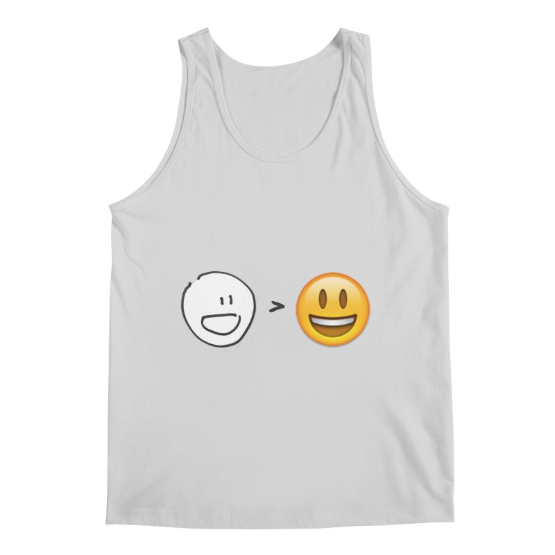 simple drawing vs graphics Men's Tank by chalkmotion's Shop