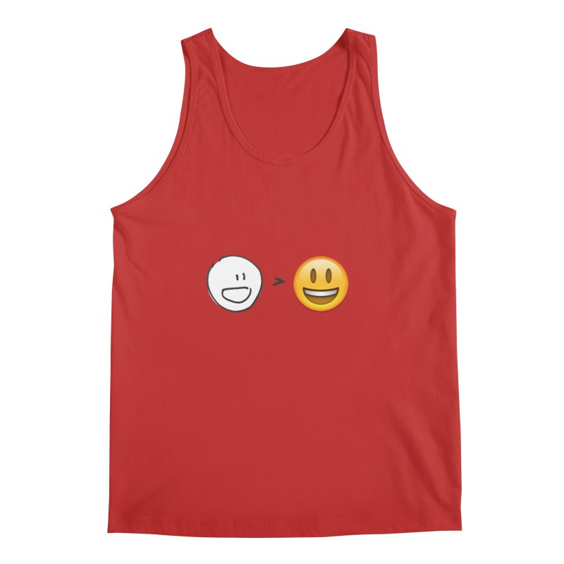 simple drawing vs graphics Men's Regular Tank by chalkmotion's Shop