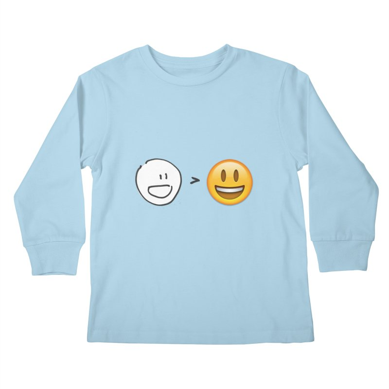 simple drawing vs graphics Kids Longsleeve T-Shirt by chalkmotion's Shop