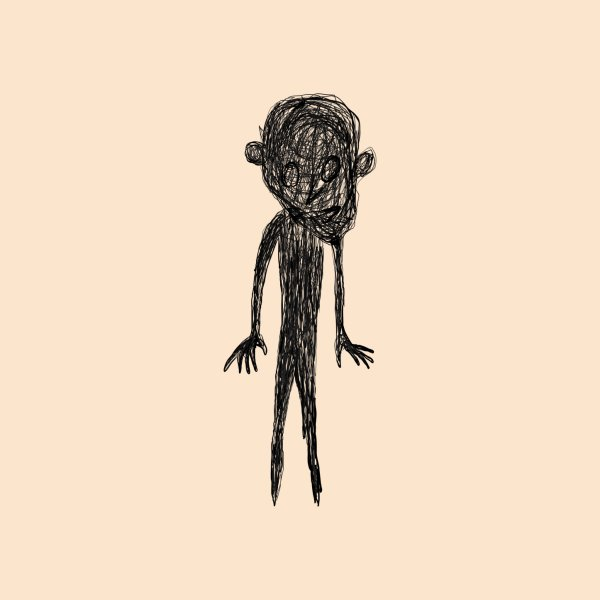 image for I saw a figure in the woods, it had a gigantic head