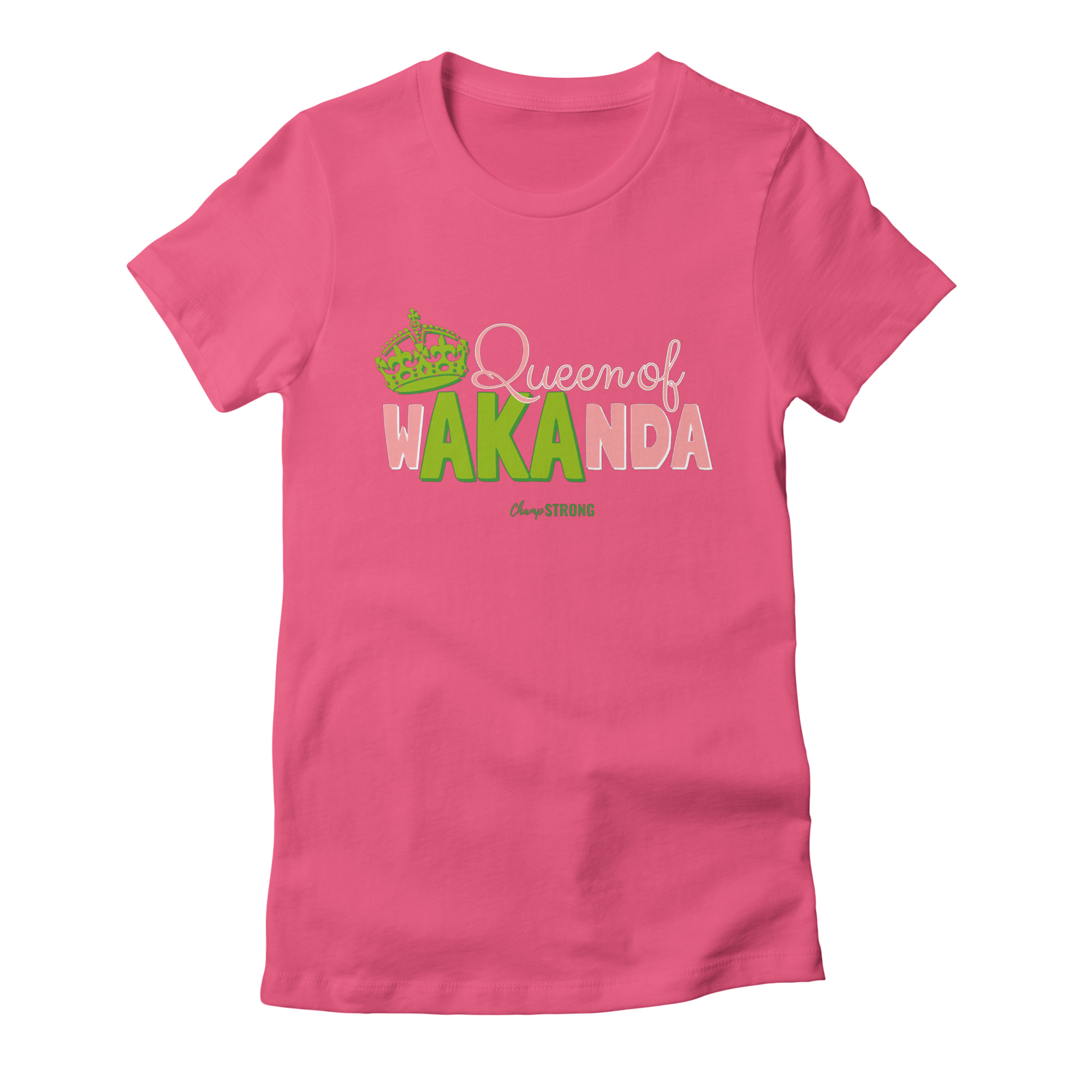 a15fb6ee champstrong queen-of-wakanda-aka-1 womens t-shirt