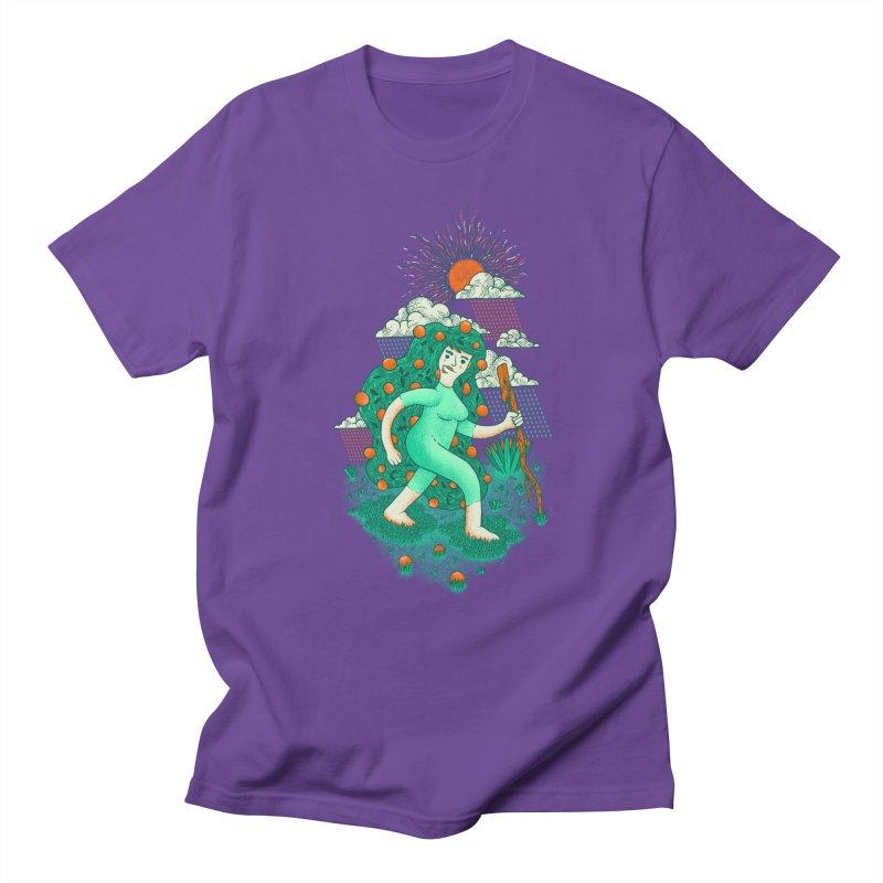Orange Rain Men's T-shirt by chamuko's Artist Shop