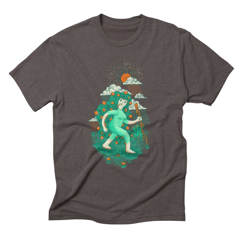 Orange Rain Men's Triblend T-shirt by chamuko's Artist Shop