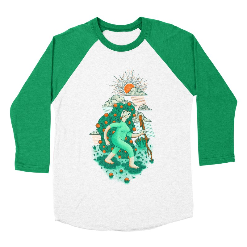 Orange Rain Women's Baseball Triblend T-Shirt by chamuko's Artist Shop