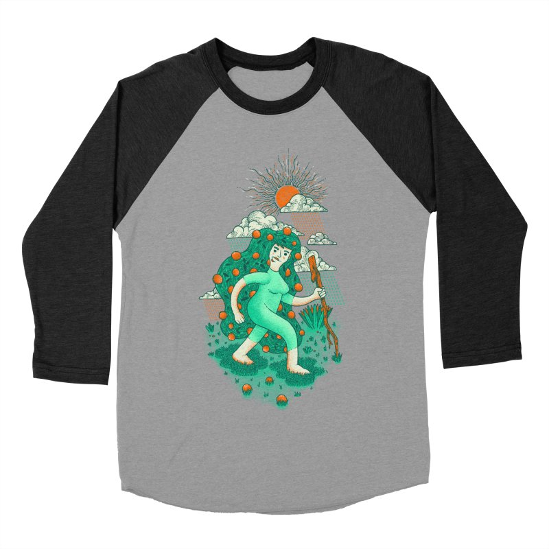 Orange Rain Men's Baseball Triblend T-Shirt by chamuko's Artist Shop