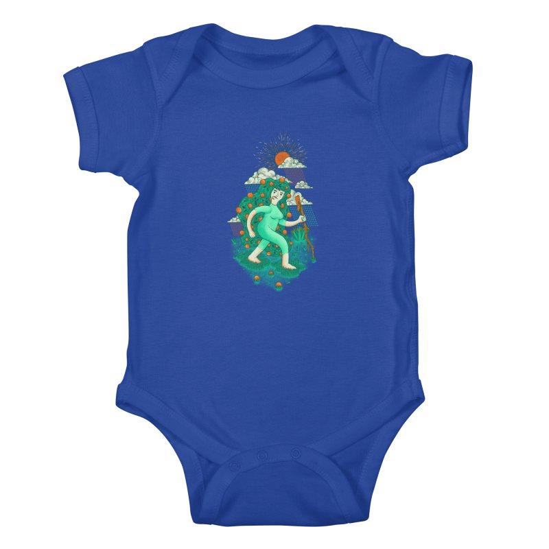 Orange Rain Kids Baby Bodysuit by chamuko's Artist Shop