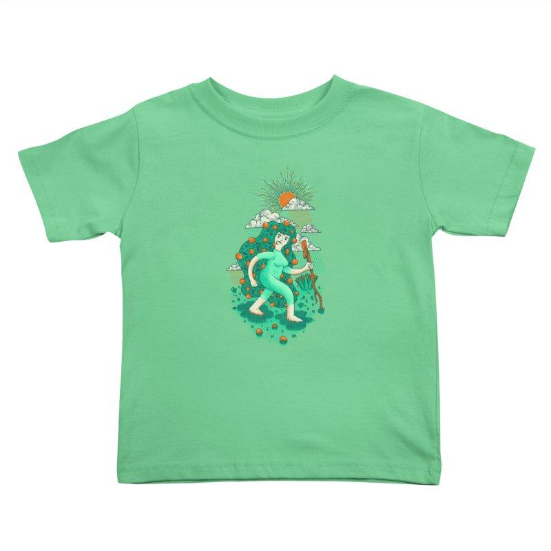 Orange Rain Kids Toddler T-Shirt by chamuko's Artist Shop