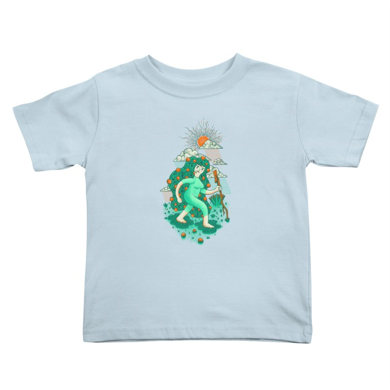 Orange Rain Kids Toddler T-Shirt by chamuko's Artist Shop