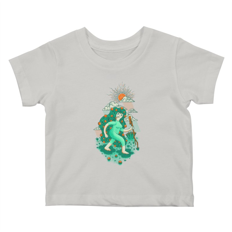 Orange Rain Kids Baby T-Shirt by chamuko's Artist Shop