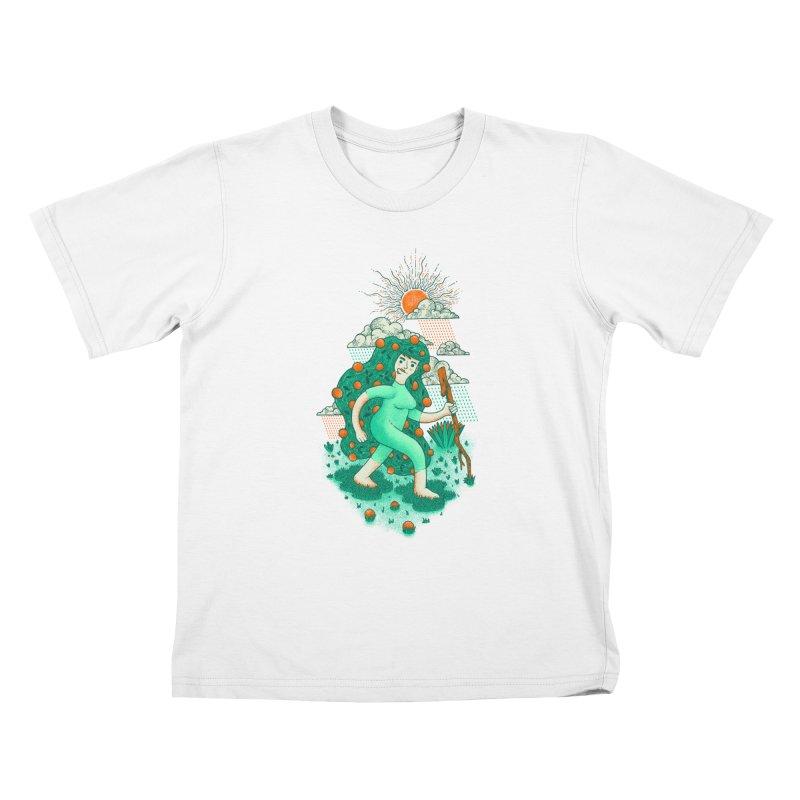 Orange Rain Kids T-shirt by chamuko's Artist Shop