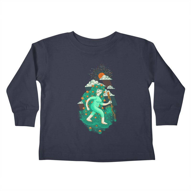 Orange Rain Kids Toddler Longsleeve T-Shirt by chamuko's Artist Shop