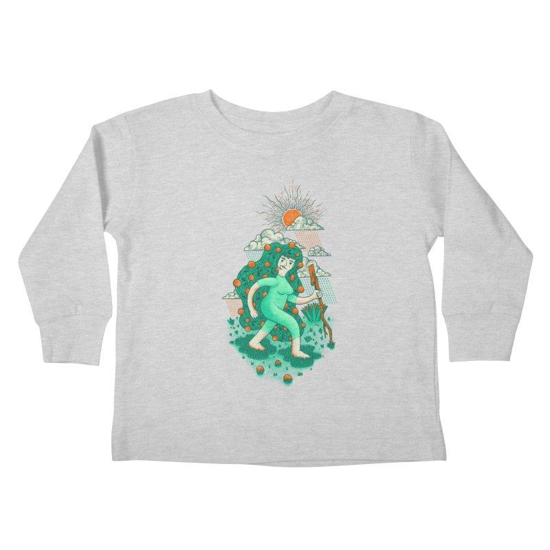 Orange Rain Kids Toddler Longsleeve T-Shirt by chamuko's Artist Shop