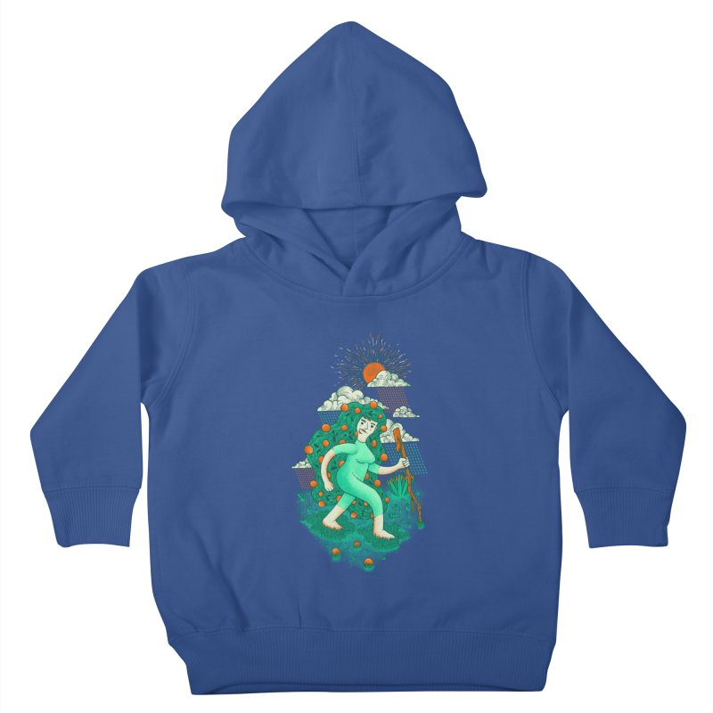 Orange Rain Kids Toddler Pullover Hoody by chamuko's Artist Shop