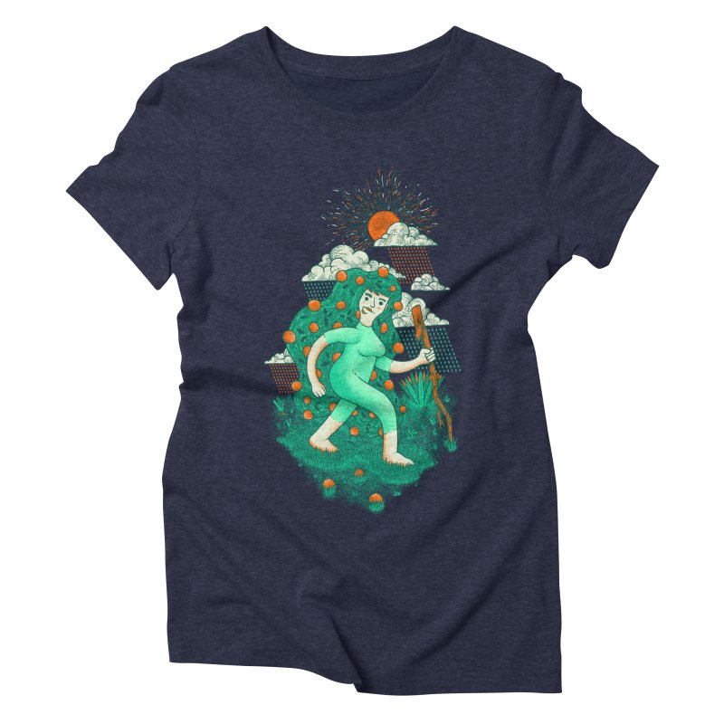Orange Rain Women's Triblend T-shirt by chamuko's Artist Shop