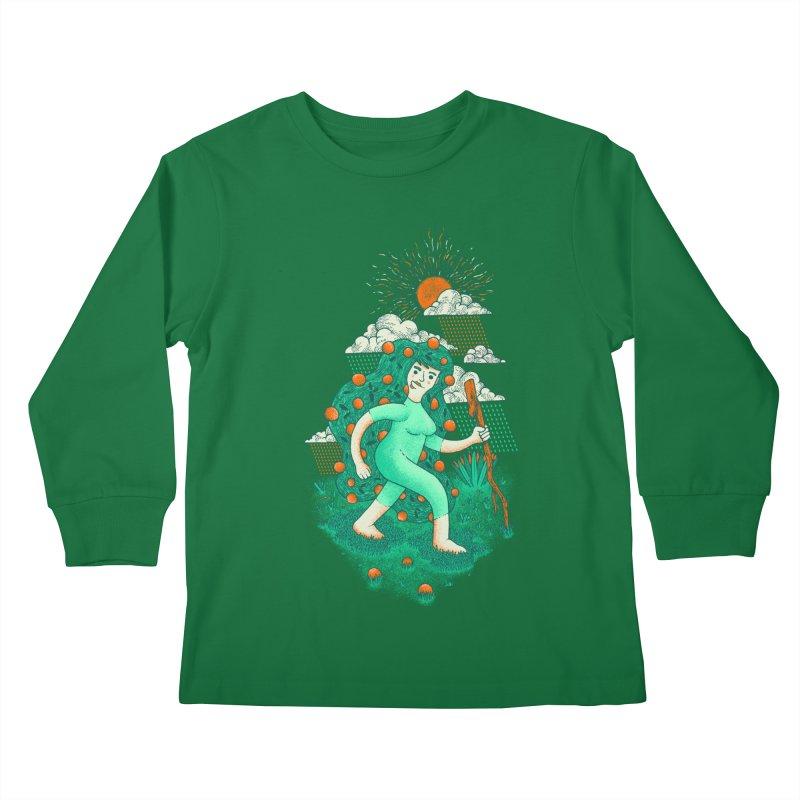 Orange Rain Kids Longsleeve T-Shirt by chamuko's Artist Shop