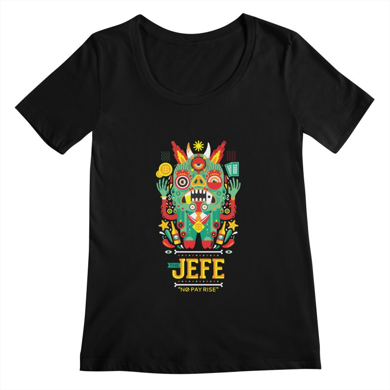 The Jefe Women's Scoopneck by chamuko's Artist Shop