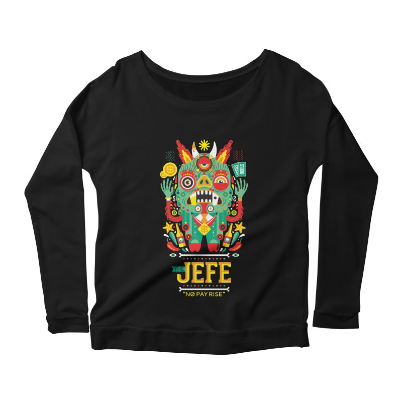 The Jefe Women's Longsleeve Scoopneck  by chamuko's Artist Shop