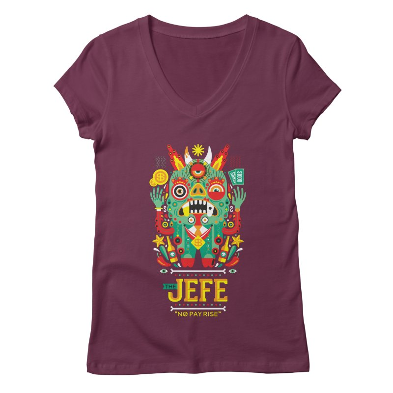 The Jefe Women's V-Neck by chamuko's Artist Shop