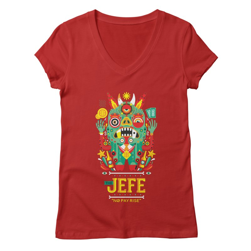 The Jefe Women's V-Neck by chamuko's Artist Shop