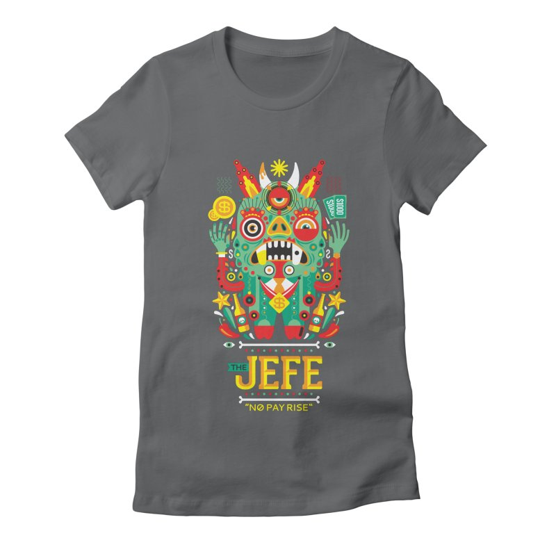 The Jefe Women's Fitted T-Shirt by chamuko's Artist Shop