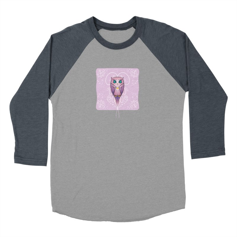 Petite Owl Women's Baseball Triblend Longsleeve T-Shirt by Character Issues Shop
